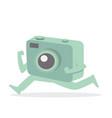 camera running cartoon flat vector image vector image