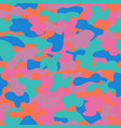 camouflage seamless pattern in a violet green vector image vector image