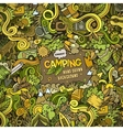 Cartoon Camping frame background vector image vector image