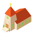 chapel icon isometric style vector image vector image