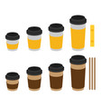 coffee cup flat set vector image vector image