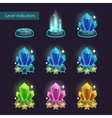 crystal level pointers vector image vector image