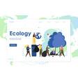 ecology website landing page design vector image vector image