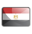 egypt flag on white background vector image vector image