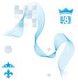Elegant flowing lines background royal design eps8 vector image vector image