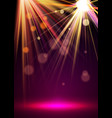flash spotlights with stage dust and light vector image vector image