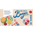 Flat design style fast food banner vector image