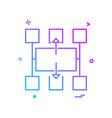flowchart icon design vector image