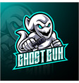 ghost with gun esport mascot logo design vector image vector image