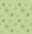 green vintage flower pattern seamless for vector image
