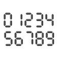 grey 3d-like digital numbers seven-segment vector image vector image