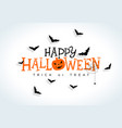 happy halloween with vector image vector image