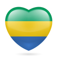 Heart icon of Gabon vector image vector image
