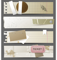 horizontal paper banners vector image vector image