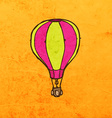 Hot Air Balloon Cartoon vector image