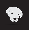 image of an labrador puppy face vector image