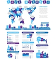 INFOGRAPHIC DEMOGRAPHICS TOY PURPLE vector image vector image