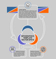 infographic process visualization template simple vector image