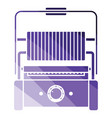 kitchen electric grill icon vector image vector image