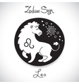 Leo zodiac sign of horoscope circle emblem in vector image vector image