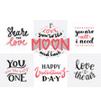 lettering for valentines day quotes about love vector image