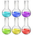 Liquid substance in glass flask vector image
