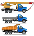 Lorry Icons Set 3 vector image