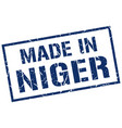 made in niger stamp vector image vector image