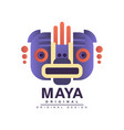 maya logo original design american indian tribal vector image vector image