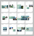 minimal brochure templates with colorful gradient vector image vector image