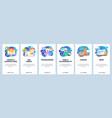 mobile app onboarding screens 404 error message vector image vector image