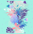 modern with tropical leaves grunge marbling vector image