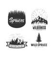 mountains logos set vector image vector image