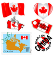 national colours of Canada vector image vector image