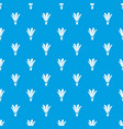 nature flower pattern seamless blue vector image vector image