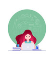 online education and self learning concept vector image vector image