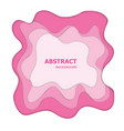 pink paper cut abstract background vector image