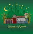 Ramadan Kareem card in green vector image vector image