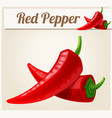red spicy peppers detailed icon vector image vector image