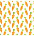 retro orange carrot vegetable seamless pattern vector image