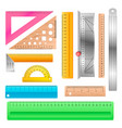 ruler school stationery maths measurement vector image