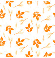 rustic fall orange leaves seamless pattern vector image vector image