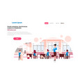 school children group with female teacher lesson vector image