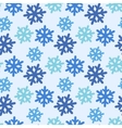 seamless pattern with colorful snowflakes vector image vector image