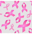 seamless pattern with realistic pink ribbons on vector image vector image