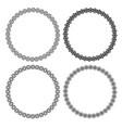 set circle lace frames monochrome outline vector image vector image