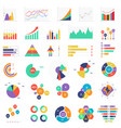 set colorful graphs and diagrams for vector image