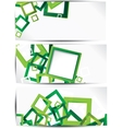Set of abstract colorful web headers and cards vector image vector image