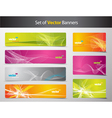 set of abstract colorful web headers and gift card vector image vector image