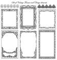 Set of Decorative Vintage Frames vector image vector image